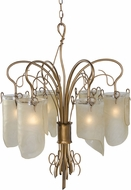 Varaluz 126C06HO Soho Contemporary Hammered Ore Chandelier Lighting