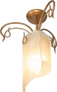 Varaluz 126S01HO Soho Modern Hammered Ore Ceiling Lighting