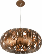 Varaluz 149C03HO Masquerade Contemporary Hammered Ore Pendant Lamp