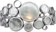 Varaluz 165B01 Fascination Contemporary Nevada Silver 14  Bathroom Lighting