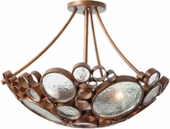 Varaluz 165S03HO Fascination Contemporary Hammered Ore Ceiling Light Fixture