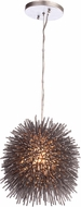 Varaluz 169M01CH Urchin Contemporary Painted Chrome Mini Drop Lighting