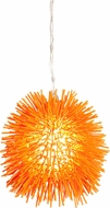 Varaluz 169M01OR Urchin Modern Electric Pumpkin Mini Ceiling Light Pendant
