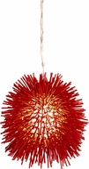 Varaluz 169M01RE Urchin Contemporary Super Red Mini Ceiling Pendant Light