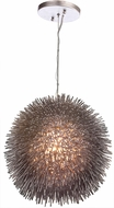 Varaluz 169P01CH Urchin Contemporary Painted Chrome Pendant Hanging Light