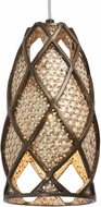Varaluz 203M01 Argyle Modern New Bronze/Desert Pearl Mini Drop Lighting Fixture