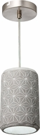 Varaluz 211M01B Pottery Perfect Modern Concrete Mini Pendant Lamp