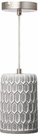 Varaluz 211M01C Pottery Perfect Contemporary Concrete Mini Hanging Lamp