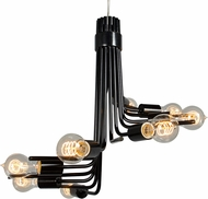 Varaluz 219C08BL Socket-To-Me Contemporary Black Mini Chandelier Lamp
