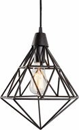 Varaluz 236P01FI Facet Contemporary Forged Iron Mini Hanging Light