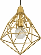 Varaluz 236P01GL Facet Modern Gold Leaf Mini Pendant Light Fixture