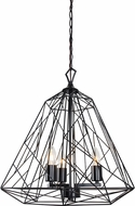 Varaluz 237P03BL The Wright Stuff Contemporary Black Hanging Pendant Lighting