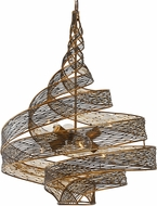 Varaluz 240P06HO Flow Contemporary Hammered Ore 26  Drop Lighting Fixture