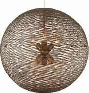Varaluz 241P06HO Flow Contemporary Hammered Ore 24  Hanging Light