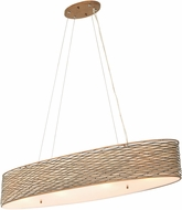 Varaluz 247N04HO Flow Contemporary Hammered Ore 36  Island Light Fixture
