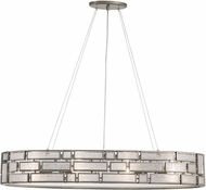 Varaluz 255N06NB Harlowe Contemporary New Bronze 35.25  Island Lighting