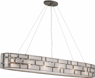 Varaluz 255N08NB Harlowe Contemporary New Bronze 47.5  Kitchen Island Lighting
