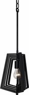 Varaluz 262P01BL Gymnast Modern Black Mini Pendant Hanging Light