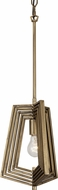 Varaluz 262P01HG Gymnast Modern Havana Gold Mini Hanging Light Fixture