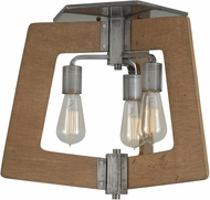 Varaluz 268S03SLW Lofty Wheat Marine Grade Flush Lighting