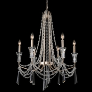 Varaluz 270C06TR Barcelona Transcend Silver Chandelier Light