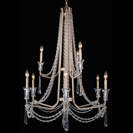 Varaluz 270C09TR Barcelona Transcend Silver Lighting Chandelier