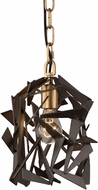 Varaluz 286M01AGRB Bermuda Modern Antique Gold/Rustic Bronze Mini Pendant Lighting Fixture