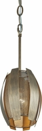 Varaluz 287M01HG Sawyers Bar Contemporary Havana Gold Mini Ceiling Light Pendant