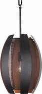 Varaluz 287P01CO Sawyers Bar Modern Two-Tone Copper Ore Mini Drop Ceiling Light Fixture