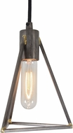 Varaluz 288M01GS Trini Modern Gunsmoke Mini Pendant Light Fixture