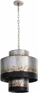Varaluz 323F04OG Cannery Contemporary Ombre Galvanized Pendant Lamp