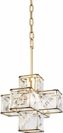 Varaluz 329P01CG Cubic Calypso Gold Mini Ceiling Light Pendant