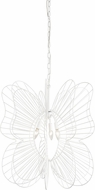 Varaluz 330P03WH Monarch Contemporary White 26 Hanging Lamp