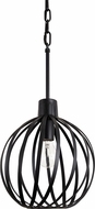 Varaluz 338P01BL Bronwyn Contemporary Black Mini Hanging Light Fixture
