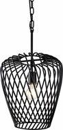 Varaluz 339P01BBL Elsa Contemporary Black Mini Ceiling Light Pendant