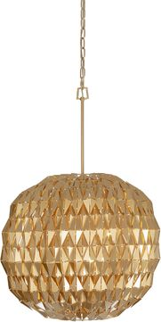 Varaluz 342P06FG Forever Contemporary French Gold 24 Hanging Lamp
