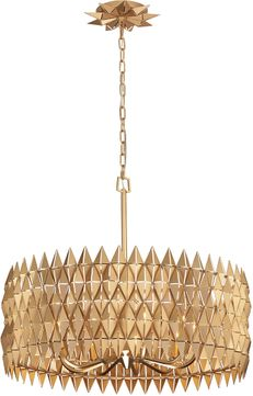 Varaluz 342P09FG Forever Contemporary French Gold 30 Hanging Light