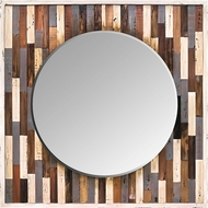 Varaluz 405A30 Varaluz Casa Contemporary Reclaimed Wood Wall Mounted Mirror