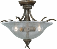 Vaxcel C0044 Monterey Rustic Autumn Patina Finish 16.5  Wide Flush Ceiling Light Fixture