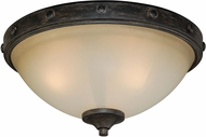 Vaxcel C0076 Halifax Aged Walnut Ceiling Lighting Fixture