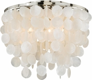 Vaxcel C0079 Elsa Satin Nickel Flush Mount Lighting