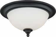 Vaxcel C0082 Grafton Oil Rubbed Bronze Flush Mount Lighting Fixture