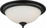 Vaxcel C0083 Grafton Oil Rubbed Bronze Flush Ceiling Light Fixture