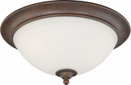 Vaxcel C0095 Hartford Weathered Patina Flush Lighting