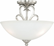 Vaxcel C0096 Hartford Satin Nickel Flush Mount Lighting