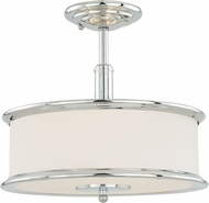 Vaxcel C0099 Carlisle Chrome Ceiling Light