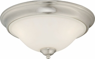 Vaxcel C0100 Belleville Satin Nickel Ceiling Light Fixture