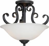 Vaxcel C0103 Belleville Oil Rubbed Bronze Flush Lighting