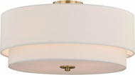 Vaxcel C0112 Burnaby Matte Brass Ceiling Light Fixture