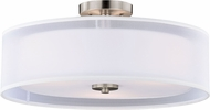 Vaxcel C0114 Nuage Satin Nickel Ceiling Light Fixture